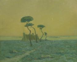 Louis Périnet, paysage de landes Musée des Augustins Toulouse