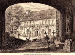 Enclos de Pencran vers 1845