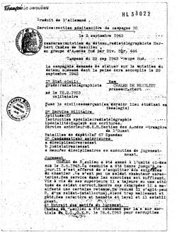 Transfert et jugement 1943